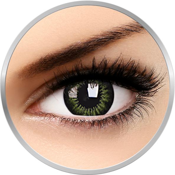 Big eyes Party Green – lentile de contact colorate verzi trimestriale – 90 purtari (2 lentile/cutie) brand ColourVUE cu comanda online