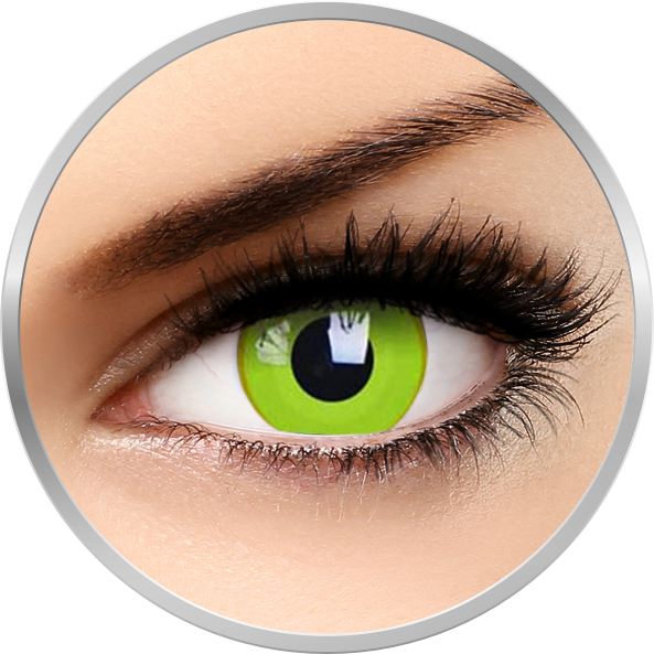 Crazy Avatar – lentile de contact colorate galbene anuale – 360 purtari (2 lentile/cutie) brand ColourVUE cu comanda online