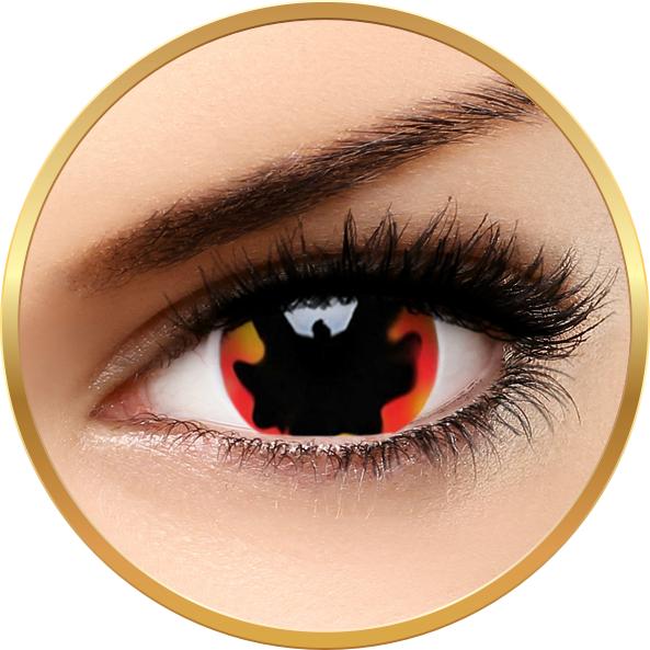 Crazy Blackhole Sun – lentile de contact colorate rosii anuale – 360 purtari (2 lentile/cutie) brand ColourVUE cu comanda online