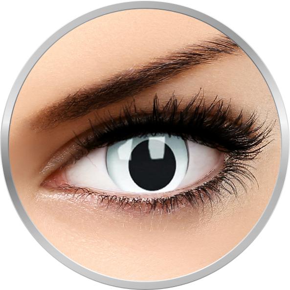 Crazy Cross Eyed – lentile de contact colorate albe anuale – 360 purtari (2 lentile/cutie) brand ColourVUE cu comanda online