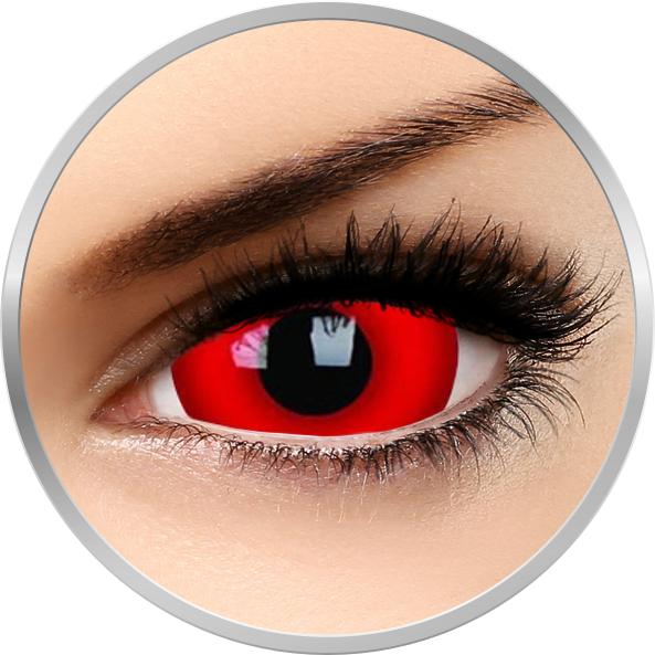 Crazy Daredevil – lentile de contact colorate rosii anuale – 360 purtari (2 lentile/cutie) brand ColourVUE cu comanda online