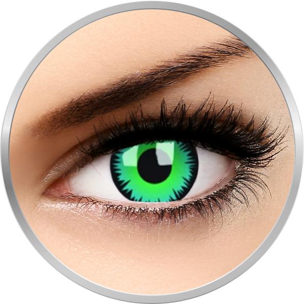 Crazy Green Werewolf – lentile de contact colorate verzi anuale – 360 purtari (2 lentile/cutie) brand ColourVUE cu comanda online