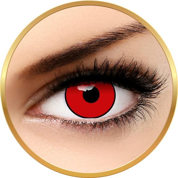 Crazy Halloween Red Manson – lentile de contact pentru Halloween anuale – 365 purtari (2 lentile/cutie) brand AuvaVision cu comanda online
