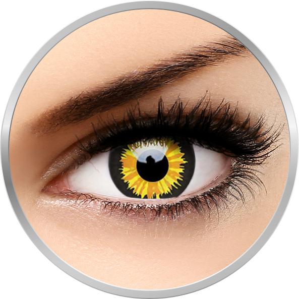 Crazy Luminor – lentile de contact colorate verzi anuale – 360 purtari (2 lentile/cutie) brand ColourVUE cu comanda online