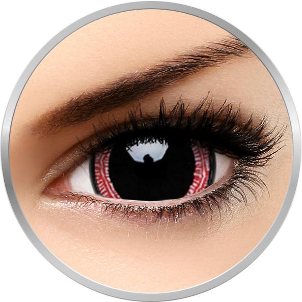 Crazy Ravenous – lentile de contact colorate rosii/negre anuale – 360 purtari (2 lentile/cutie) brand ColourVUE cu comanda online