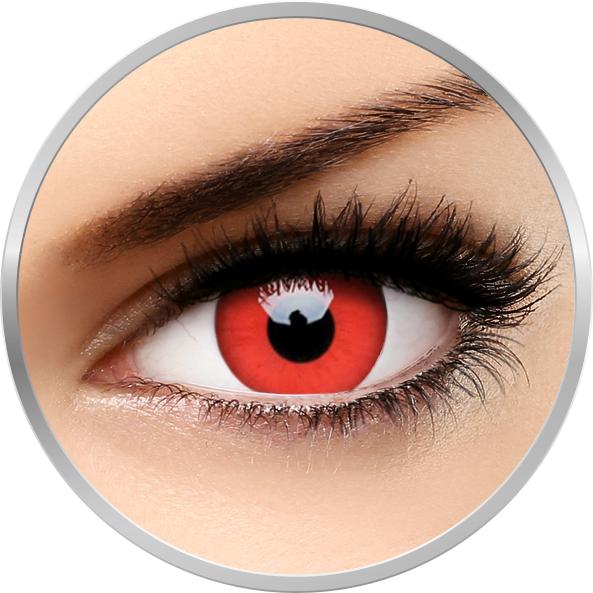 Crazy Red Devil – lentile de contact colorate rosii anuale – 360 purtari (2 lentile/cutie) brand ColourVUE cu comanda online