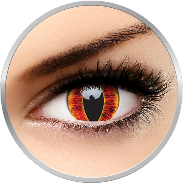 Crazy Sauron's Eye – lentile de contact colorate rosii anuale – 360 purtari (2 lentile/cutie) brand ColourVUE cu comanda online