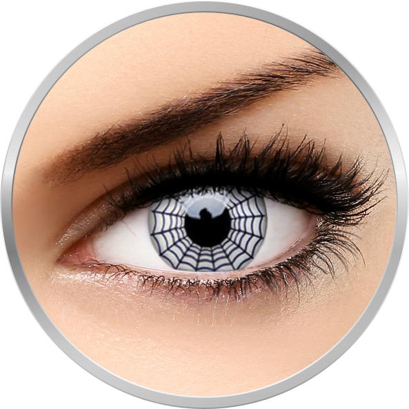 Crazy Spider - lentile de contact colorate albe anuale - 360 purtari (2 lentile/cutie) brand ColourVUE cu comanda online