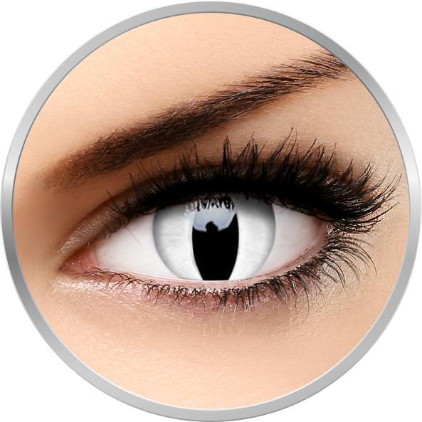 Crazy Viper – lentile de contact colorate albe anuale – 360 purtari (2 lentile/cutie) brand ColourVUE cu comanda online