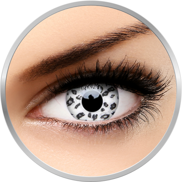 Crazy White Leopard – lentile de contact colorate albe anuale – 360 purtari (2 lentile/cutie) brand ColourVUE cu comanda online