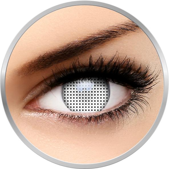 Crazy White Screen - lentile de contact colorate albe anuale - 360 purtari (2 lentile/cutie) brand ColourVUE cu comanda online