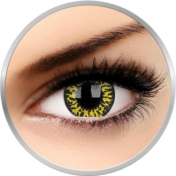 Crazy Yellow Eclipse – lentile de contact colorate verzi anuale – 360 purtari (2 lentile/cutie) brand ColourVUE cu comanda online