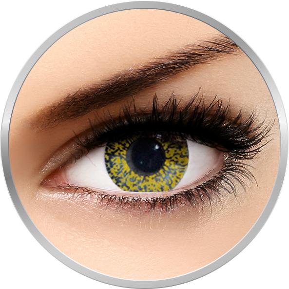 Edit Glimmer Gold – lentile de contact colorate galbene trimestriale – 90 purtari (2 lentile/cutie) brand Edit cu comanda online