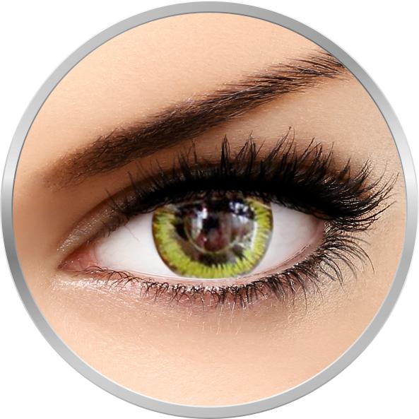 Fancy Gaia – lentile de contact colorate galbene/negre anuale – 360 purtari (2 lentile/cutie) brand Phantasee cu comanda online
