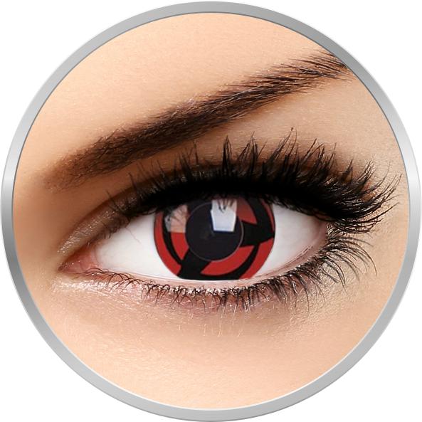 Fancy Kakashi – lentile de contact colorate rosii/negre anuale – 360 purtari (2 lentile/cutie) brand Phantasee cu comanda online