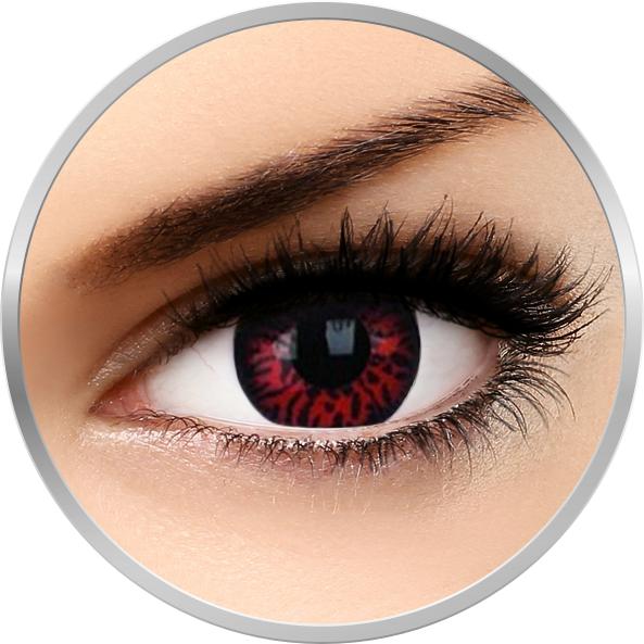 Fancy Thunderbolts – lentile de contact colorate rosii/negre anuale – 360 purtari (2 lentile/cutie) brand Phantasee cu comanda online