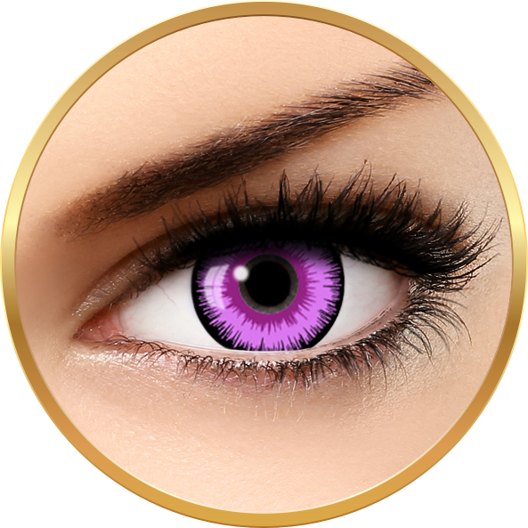 Fantaisie Lunatic Purple – lentile de contact pentru Halloween anuale – 365 purtari (2 lentile/cutie) brand AuvaVision cu comanda online
