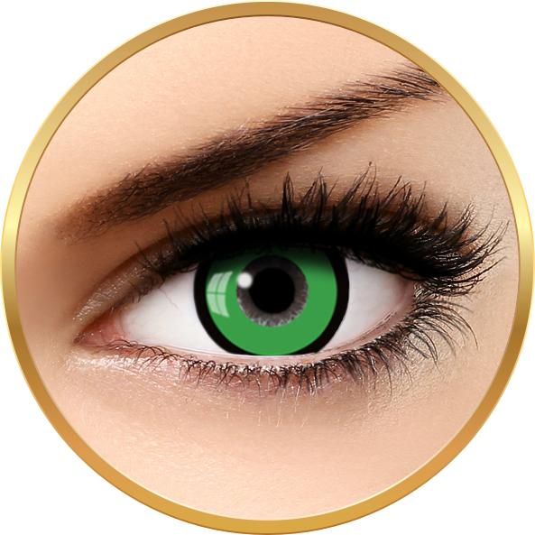 Fantaisie Manson Green – lentile de contact pentru Halloween anuale – 365 purtari (2 lentile/cutie) brand AuvaVision cu comanda online