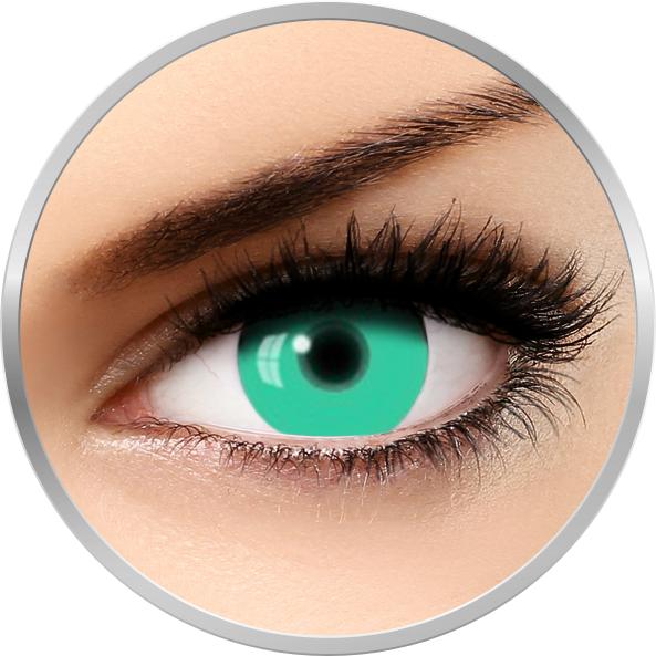 Fantaisie UV Glow Green – lentile de contact pentru Halloween anuale – 365 purtari (2 lentile/cutie) brand AuvaVision cu comanda online