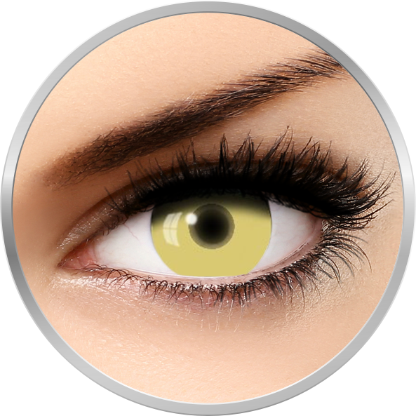 Fantaisie UV Glow Yellow – lentile de contact pentru Halloween anuale – 365 purtari (2 lentile/cutie) brand AuvaVision cu comanda online