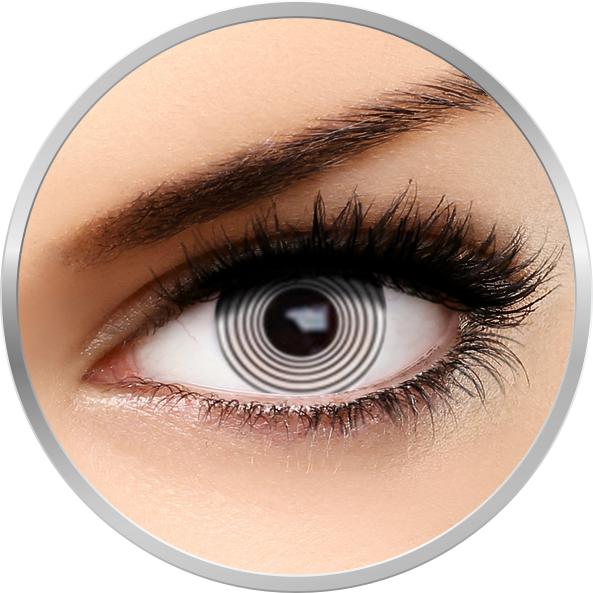 Fantaisie White Hypno – lentile de contact pentru Halloween anuale – 365 purtari (2 lentile/cutie) brand AuvaVision cu comanda online