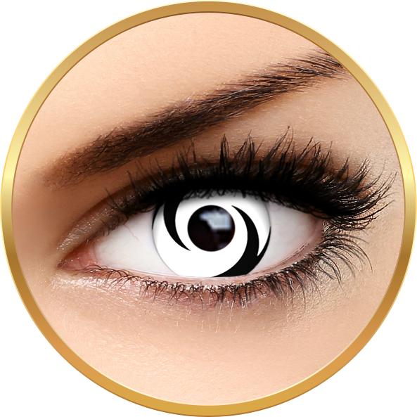 Fantaisie White Swirl – lentile de contact pentru Halloween anuale – 365 purtari (2 lentile/cutie) brand AuvaVision cu comanda online