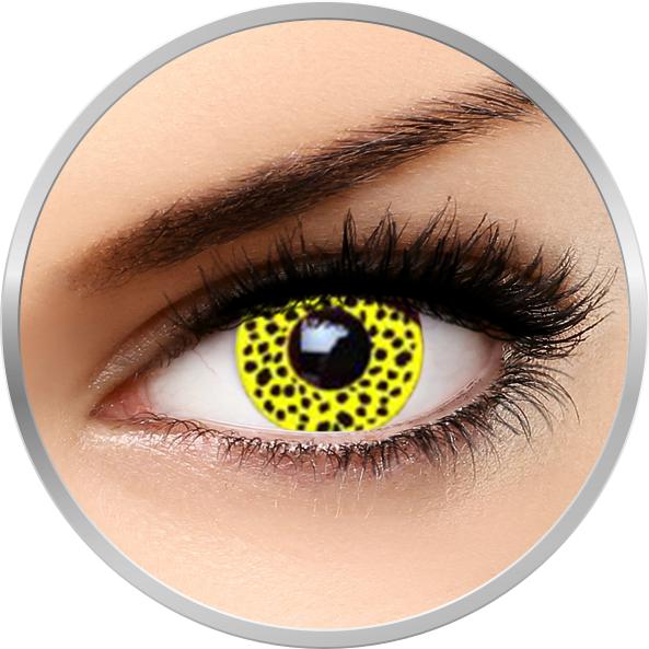 Fantaisie Yellow Cheetah – lentile de contact pentru Halloween anuale – 365 purtari (2 lentile/cutie) brand AuvaVision cu comanda online