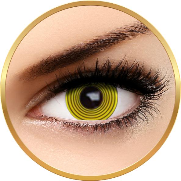 Fantaisie Yellow Hypno – lentile de contact pentru Halloween anuale – 365 purtari (2 lentile/cutie) brand AuvaVision cu comanda online