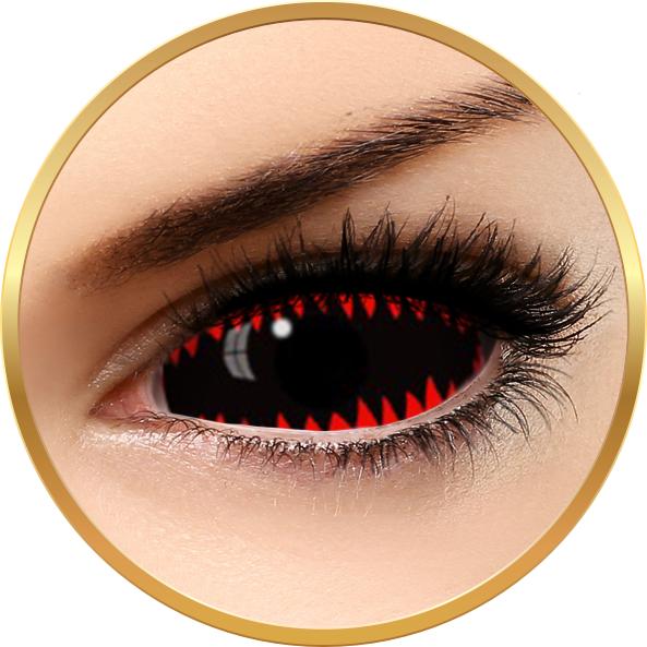 Fashion Lentilles Jaws Red – lentile de contact pentru Halloween anuale – 365 purtari (2 lentile/cutie) brand AuvaVision cu comanda online