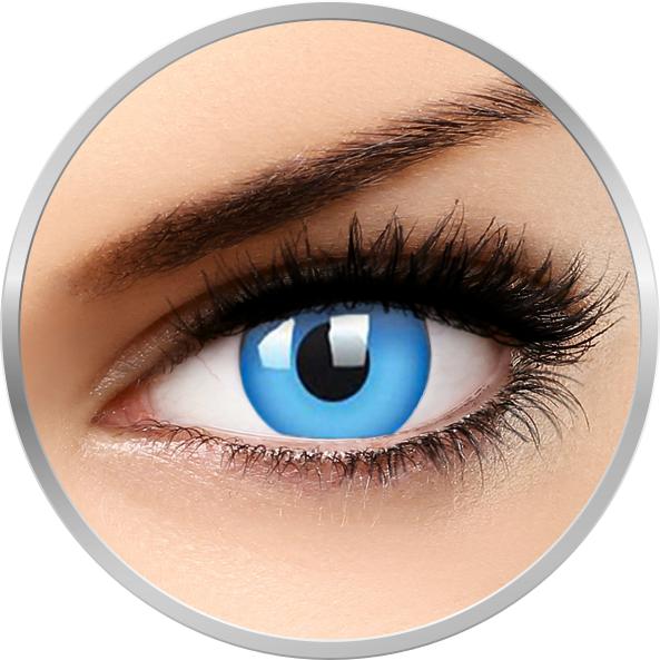 Glow Blue – lentile de contact colorate albastre anuale – 360 purtari (2 lentile/cutie) brand ColourVUE cu comanda online