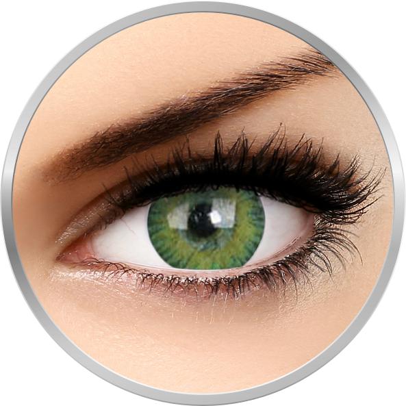 Lentile de contact cu dioptrii 3Tones Green – lentile de contact torice pentru astigmatism – trimestriale – 90 purtari (1 lentila/cutie) cu comanda online