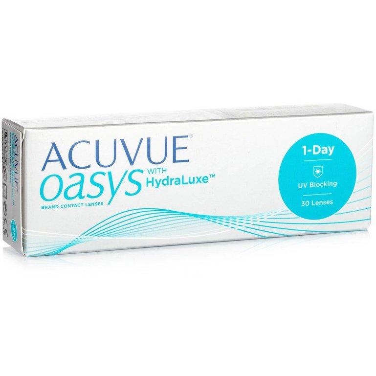 Lentile de contact cu dioptrii Acuvue Oasys 1 Day with HydraLuxe zilnice 30 lentile / cutie cu comanda online