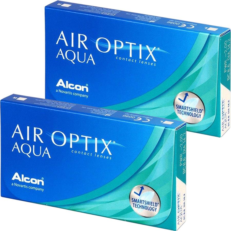 Lentile de contact cu dioptrii Alcon / Ciba Vision Air Optix Aqua lunare 2 x 6 lentile / cutie cu comanda online