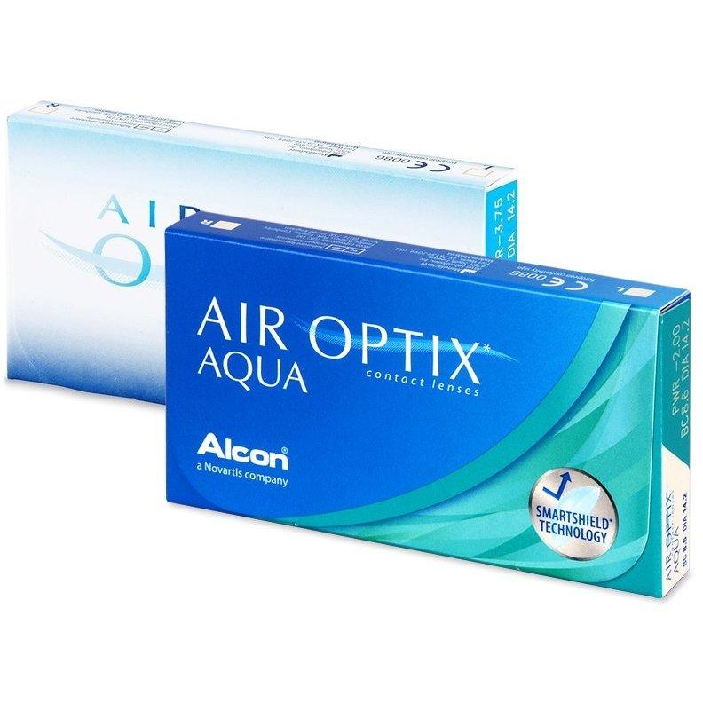Lentile de contact cu dioptrii Alcon / Ciba Vision Air Optix Aqua lunare 3 lentile / cutie cu comanda online