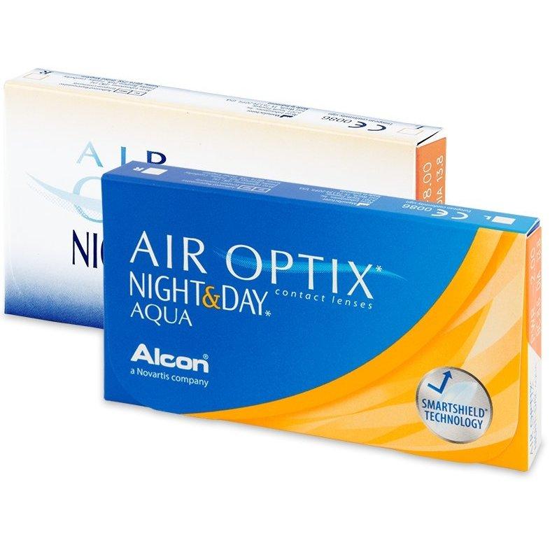 Lentile de contact cu dioptrii Alcon / Ciba Vision Air Optix Night & Day Aqua lunare 3 lentile / cutie cu comanda online