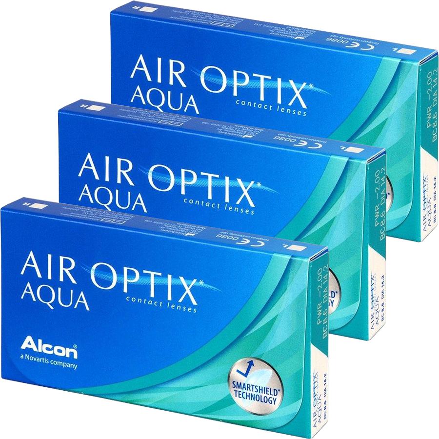 Lentile de contact cu dioptrii Alcon / Ciba Vision Alcon / Ciba Vision Air Optix Aqua lunare 3 x 6 lentile / cutie cu comanda online