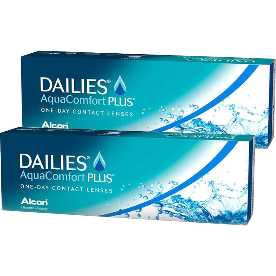 Lentile de contact cu dioptrii Alcon / Ciba Vision Dailies Aqua Comfort Plus unica folosinta 2 x 30 lentile cu comanda online