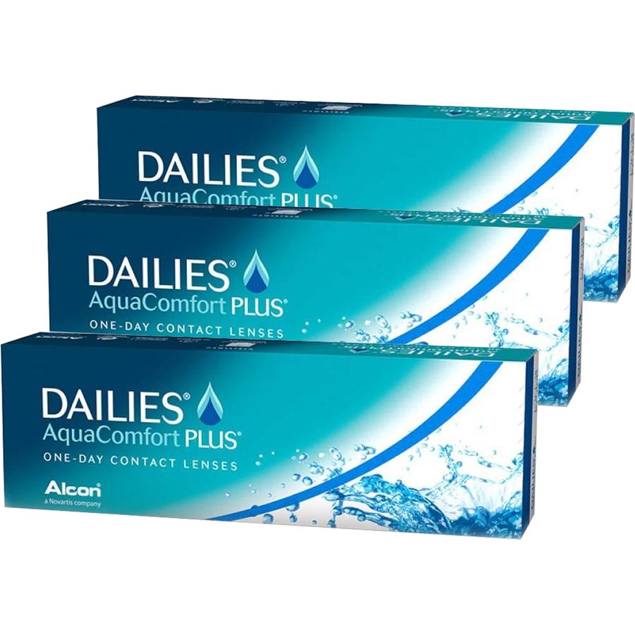 Lentile de contact cu dioptrii Alcon / Ciba Vision Dailies Aqua Comfort Plus unica folosinta 3 x 30 lentile cu comanda online