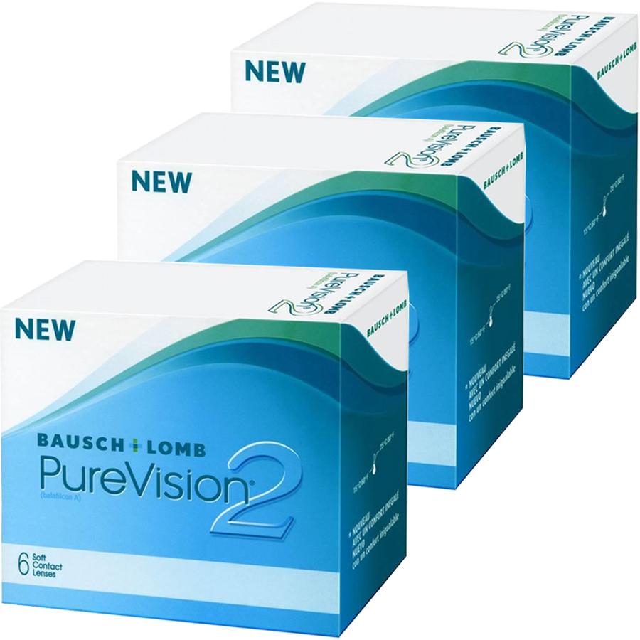 Lentile de contact cu dioptrii Bausch & Lomb Bausch & Lomb Pure Vision 2HD lunare 3 x 6 lentile / cutie cu comanda online