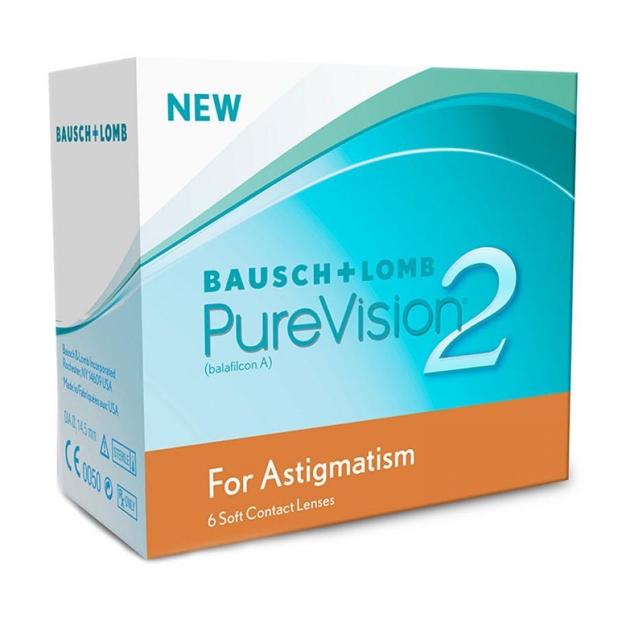 Lentile de contact cu dioptrii Bausch & Lomb Pure Vision 2HD Astigmatism lunare – 6 lentile / cutie cu comanda online