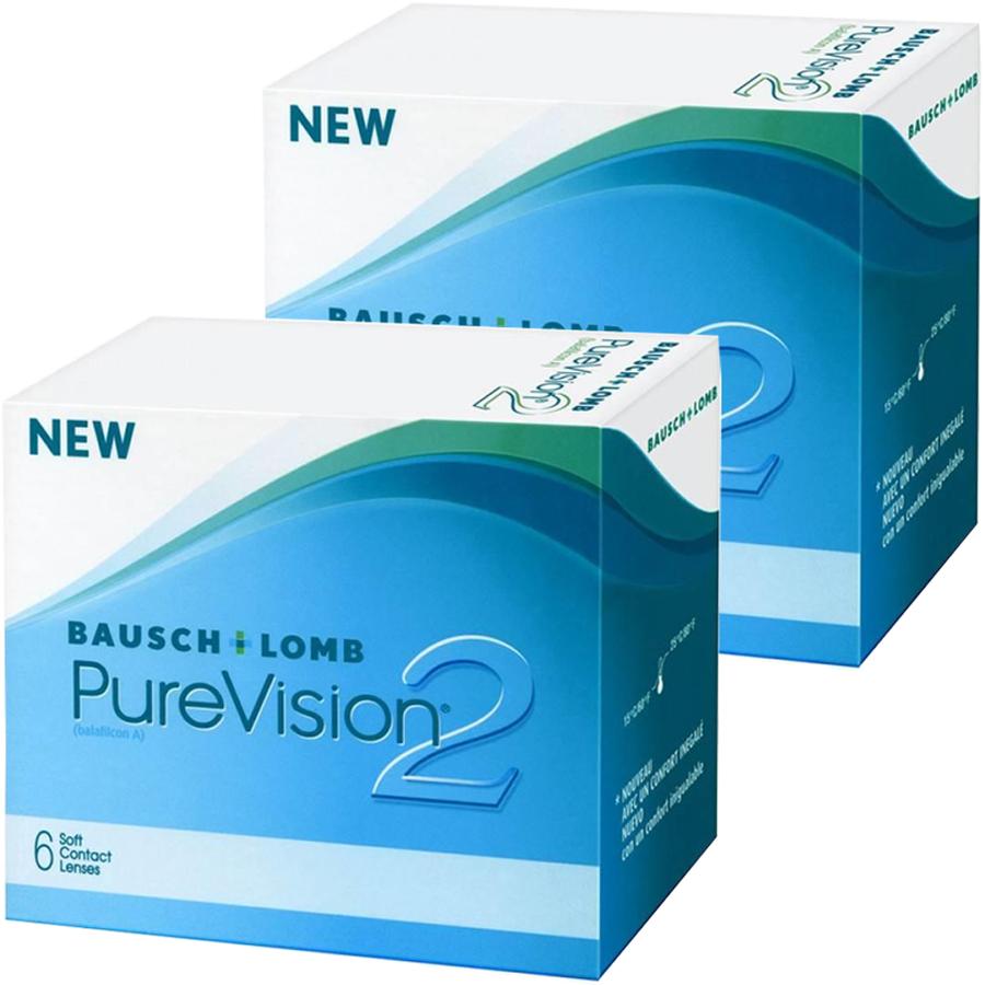 Lentile de contact cu dioptrii Bausch & Lomb Pure Vision 2HD lunare -2 x 6 lentile / cutie cu comanda online