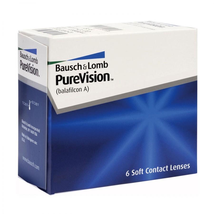 Lentile de contact cu dioptrii Bausch & Lomb Pure Vision lunare 6 lentile / cutie cu comanda online