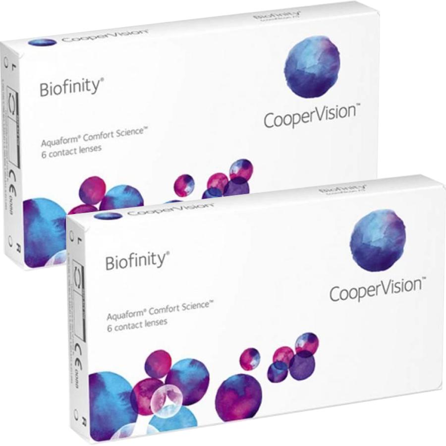 Lentile de contact cu dioptrii Cooper Vision Biofinity lunare 2 x 6 lentile / cutie cu comanda online