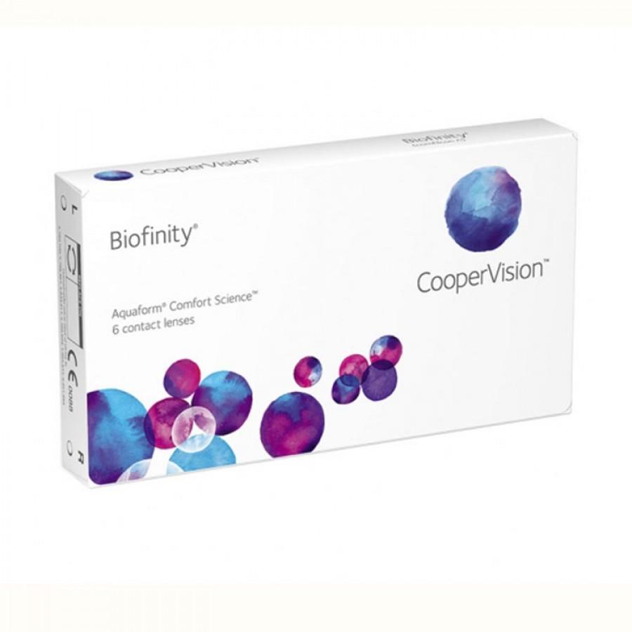 Lentile de contact cu dioptrii Cooper Vision Biofinity lunare 6 lentile / cutie cu comanda online