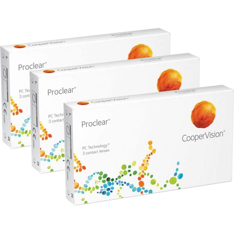 Lentile de contact cu dioptrii Cooper Vision Proclear lunare 3 x 3 lentile / cutie cu comanda online