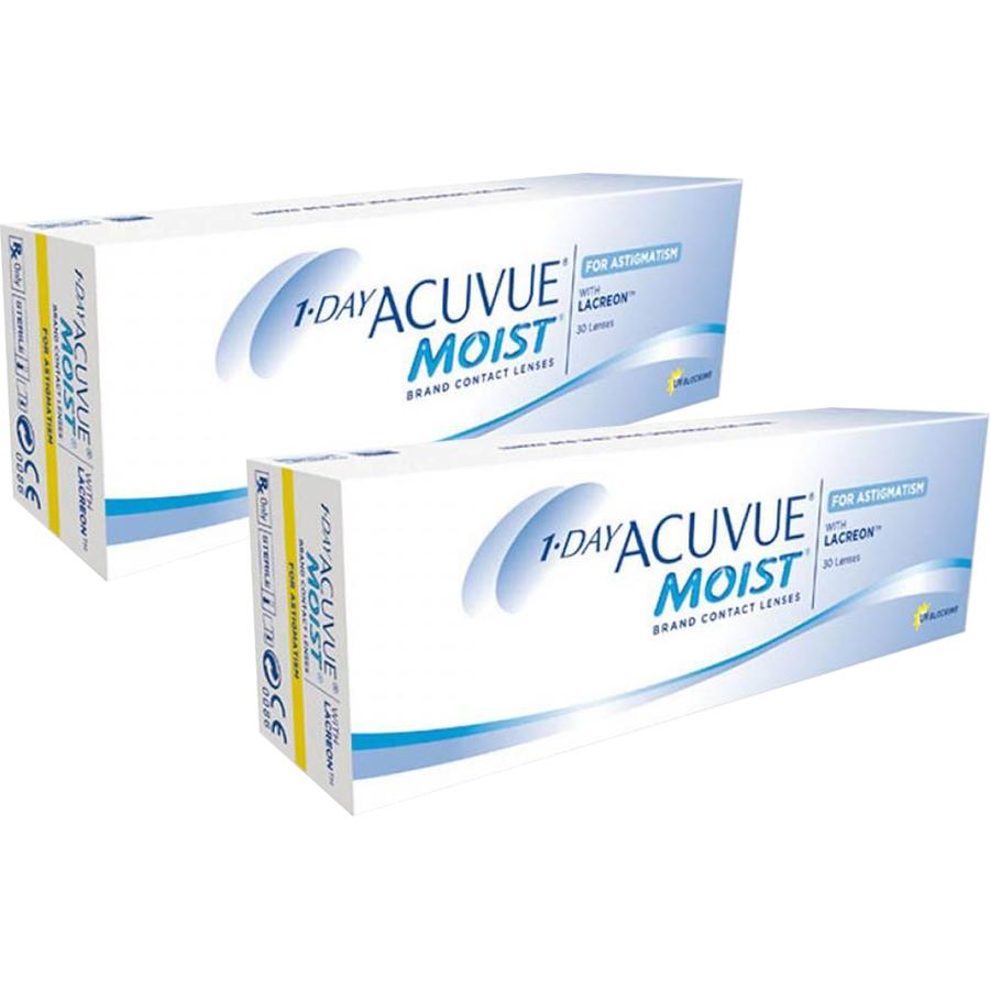 Lentile de contact cu dioptrii Johnson&Johnson 1 Day Acuvue Moist for Astigmatism zilnice 2 x 30 lentile / cutie cu comanda online
