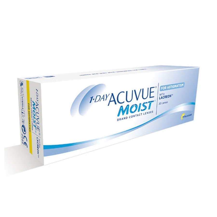 Lentile de contact cu dioptrii Johnson&Johnson 1 Day Acuvue Moist for Astigmatism zilnice 30 lentile / cutie cu comanda online