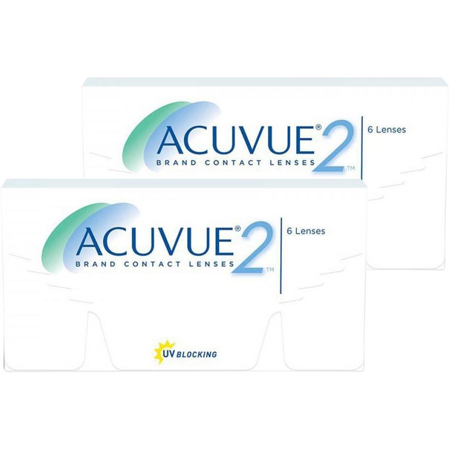 Lentile de contact cu dioptrii Johnson&Johnson Acuvue 2 saptamanale 2 x 6 lentile / cutie cu comanda online