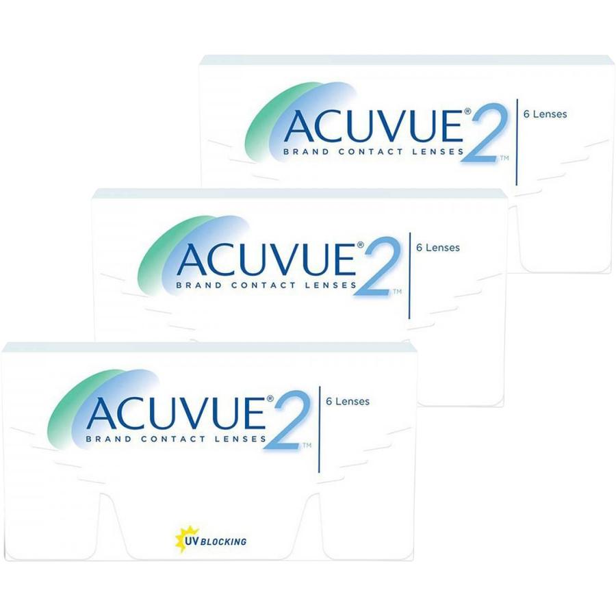 Lentile de contact cu dioptrii Johnson&Johnson Acuvue 2 saptamanale 3 x 6 lentile / cutie cu comanda online
