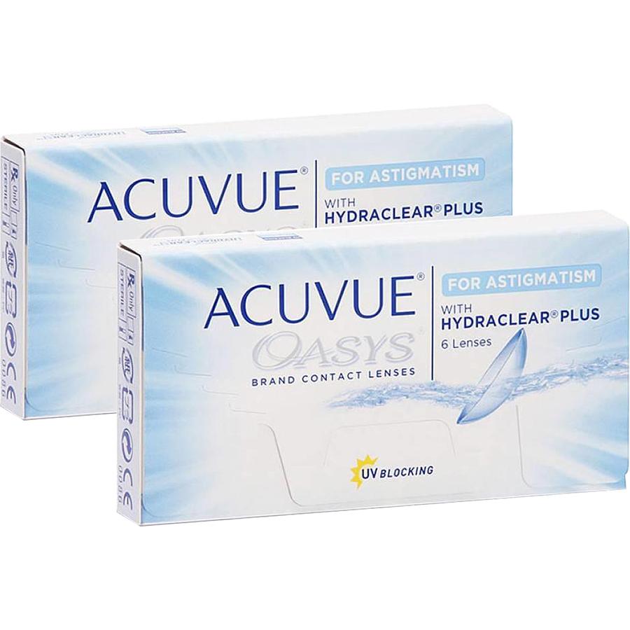 Lentile de contact cu dioptrii Johnson&Johnson Acuvue Oasys for Astigmatism bi-lunare 2 x 6 lentile / cutie cu comanda online